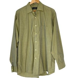 GUY LAROCHE Olive Green Button Down Shirt L/S 44